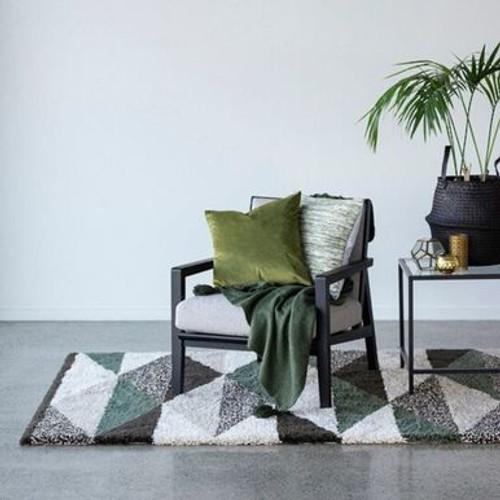 Natural/Jungle Green rug