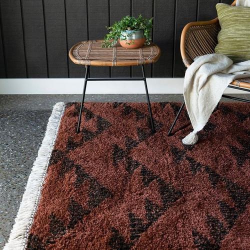 Terracotta brown rug