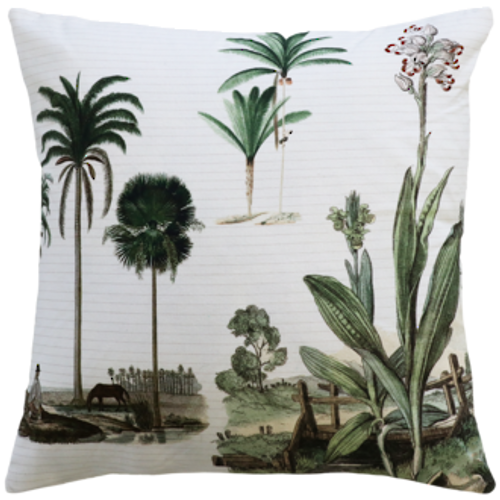 Cream/Green cushion