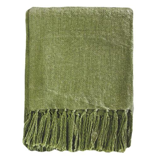 Moss Green throw