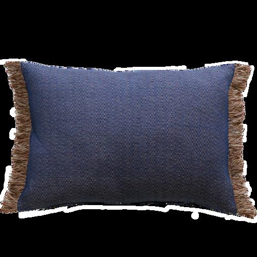 Blue/Fawn cushion