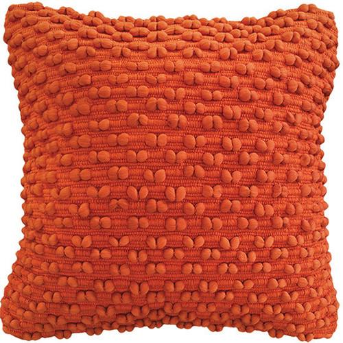 Tangerine orange cushion