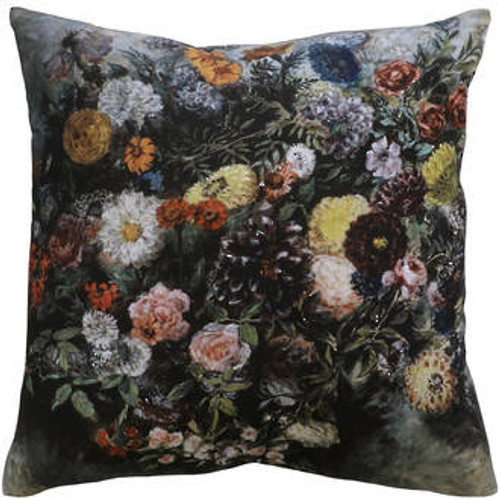 Charcoal/Multi cushion