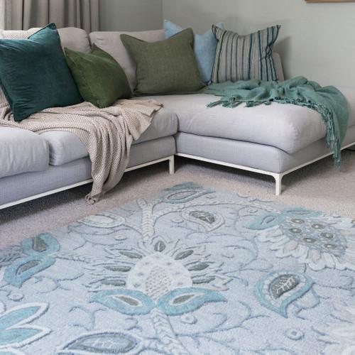 Soft Blue/Multi rug