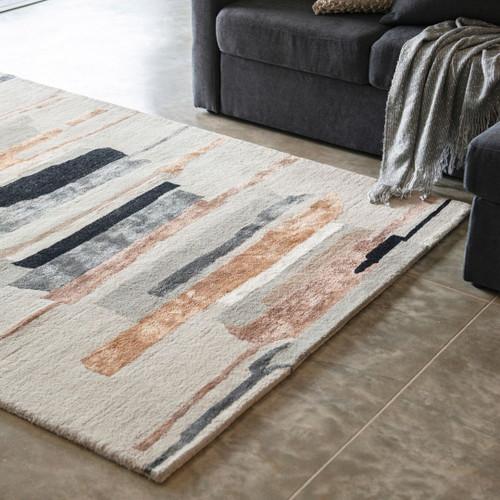 Wool blend multi colour rug