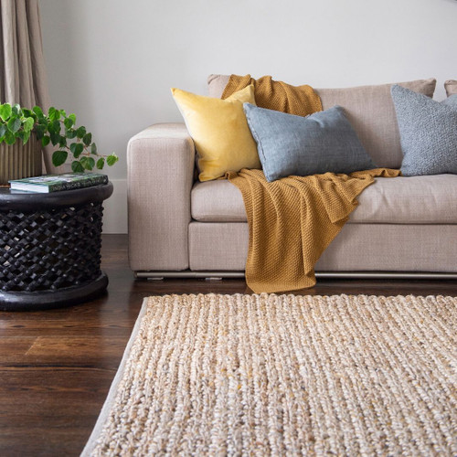 Wool Natural/Golden Yellow rug