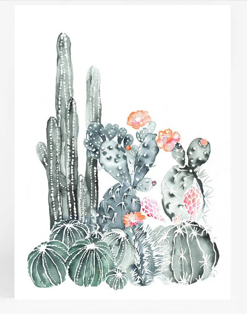 Cacti Garden Printed Artwork