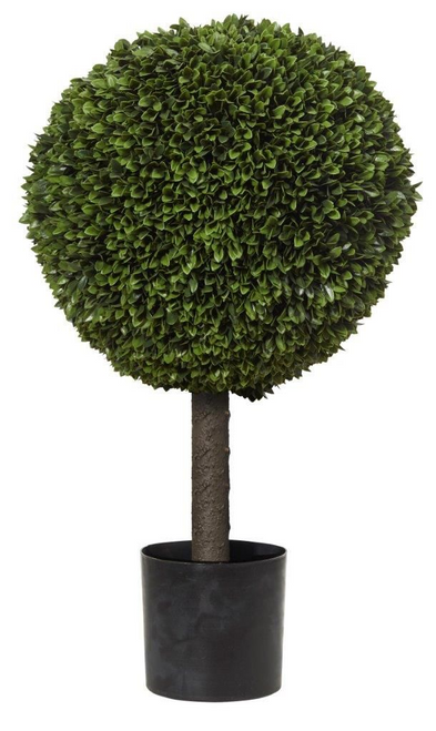 Artificial Box Leaf Topiary Plant