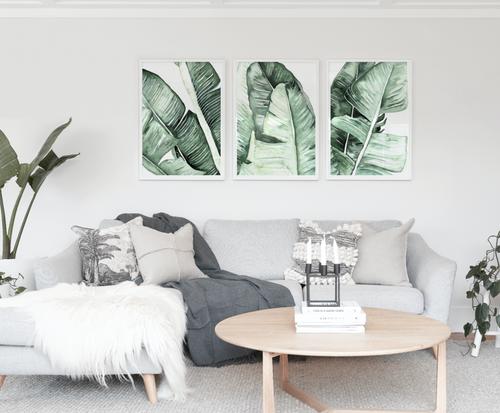 Banana Triplet Printed Artwork