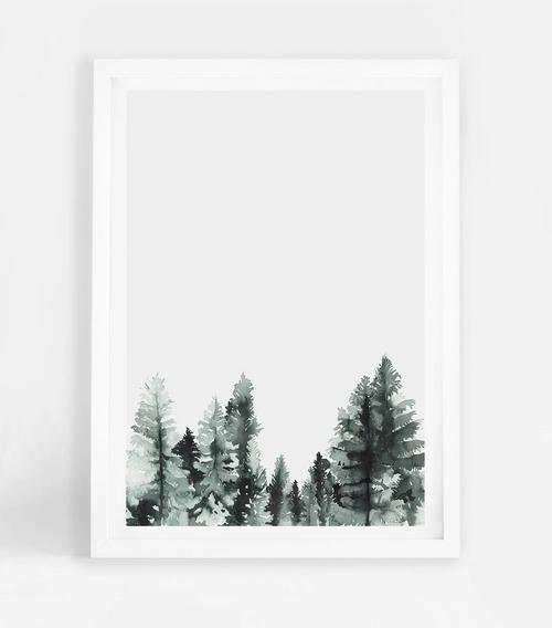 Tree Tops Printed Artwork