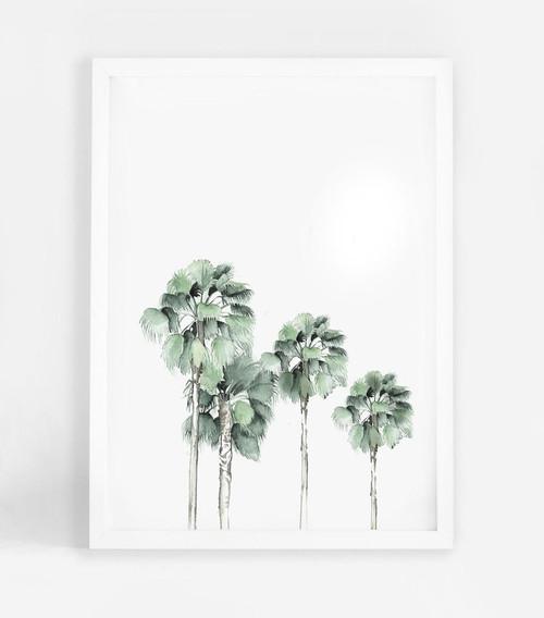 Miami Palms Printed Artwork