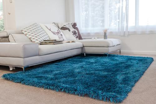 Dream Blue Luxurious Rug 200x140cm