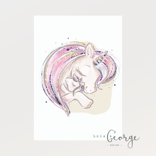 Unicorns Embrace Print