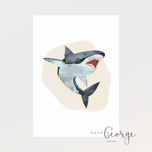 Great White Shark Print