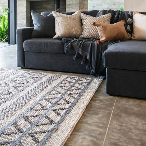 Aster Floor Rug - Pebble