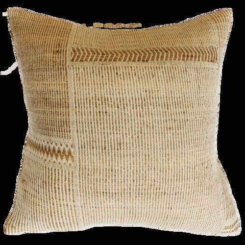 Navajo Cushion - Straw/Off White