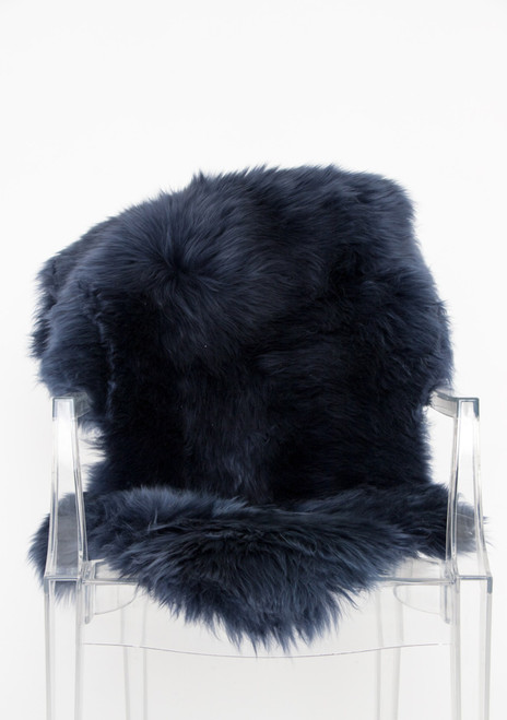 Single Navy Sheepskin