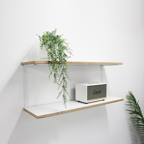 Plywood  Wall Shelves - White