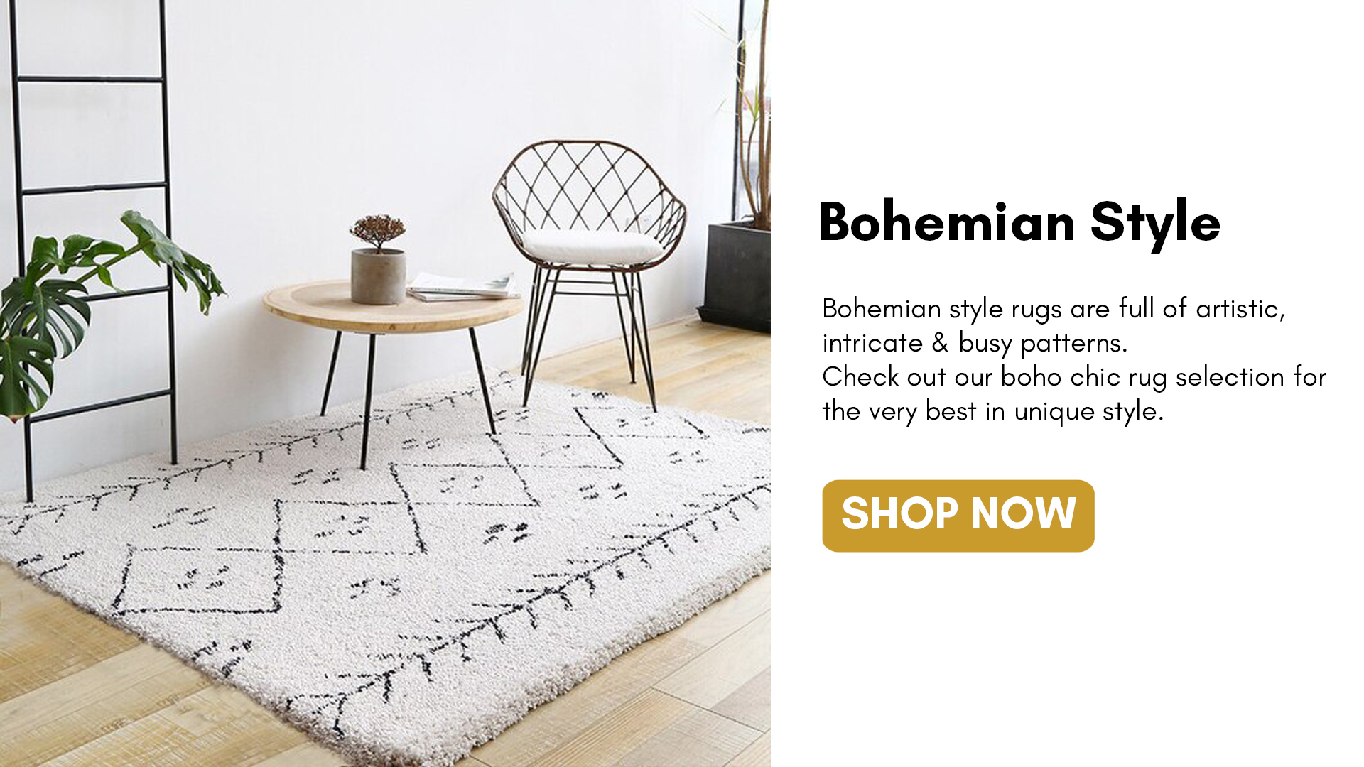 Perfect for any home styles! Our high - quality Bohemian Style Rugs are always on trend and have unique design. Available in different sizes to suit most home style.