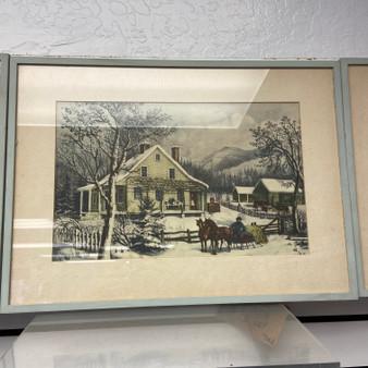 Framed Farm print