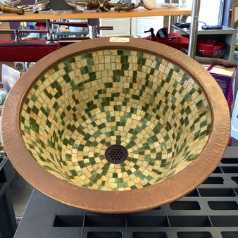 Linkasink Copper Sink with Tile Inlay