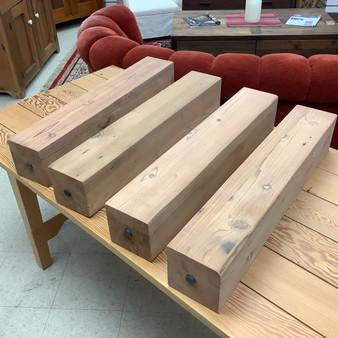 "Redwood ""Cesar"" Wooden Table Legs"