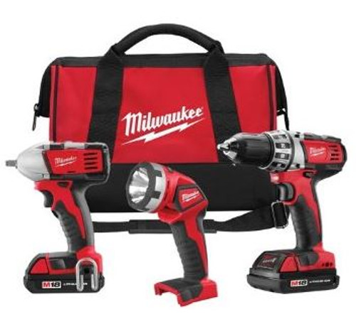 Compact Drill Impact Wrench and Light Milwaukee 2691-23