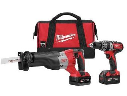 Drill & Sawzall 18v Kit w/ 2 Batt Milwaukee 2694-22