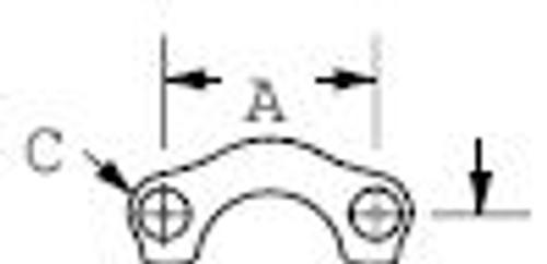 449-74446-12 Aeroquip Code 61 Flange Clamp
