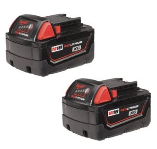 Battery 18 volt 3.0 AH XC 2 Pack Lithium-Ion  Milwaukee 48-11-1822