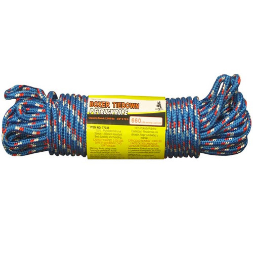 Truck Rope 3/8 x 75ft WLL 660lb Boxer 77038