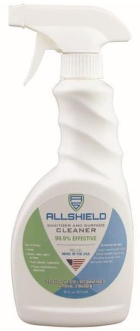 Sanitizer All-Shield Surface Cleaner 70% Alcohol 16oz Spray