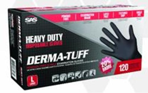 Derma-Tuff Nitrile Powder-Free 6 Mil Lg Glove 120pk 66583
