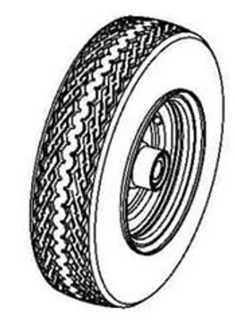 Tire/Wheel Assembly 4.8/4-8 P47 GRAY Ariens 07101210