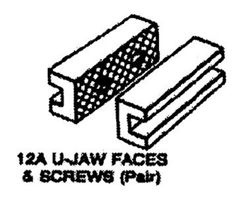 """Vise Jaws 4"""" U-Shape Milwaukee Morgan 1104057"""