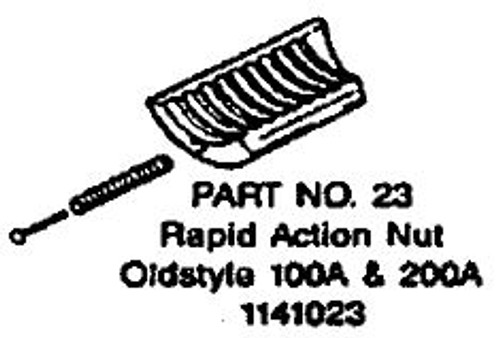 Rapid Action Nut for Old Style Wood Vise Milwaukee 1141023
