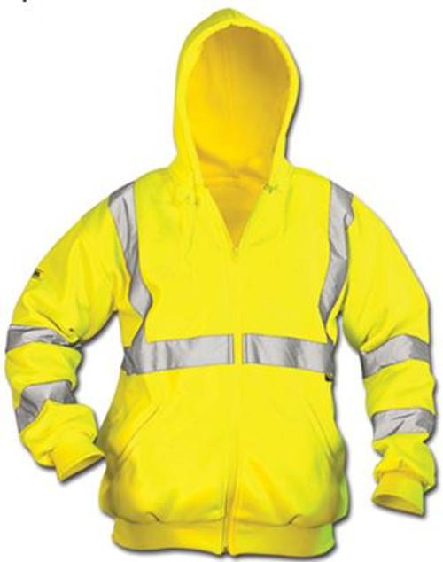 Sweatshirt Hooded Hi-Viz Class 3