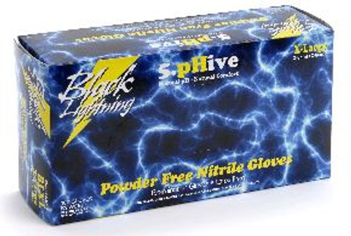 Black Lightning Nitrile Powder-Free Large Glove