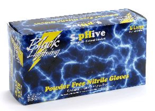 Black Lightning Nitrile Powder-Free XXL Glove