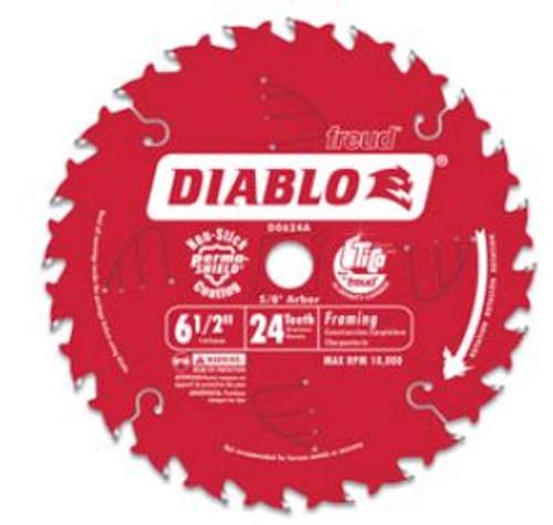 Saw Blade Freud Diablo D0624A 6-1/2-Inch 24T
