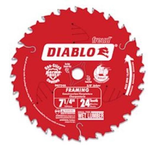 Saw Blade Freud D0724A Diablo 7-1/4-Inch 24T ATB Framing