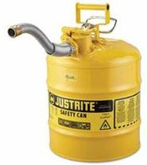 Diesel Can Metal 5 Gal Type 2 Yellow 1in Metal Spout
