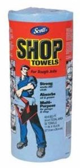 Shop Towel Scott Blue Roll 55 ct