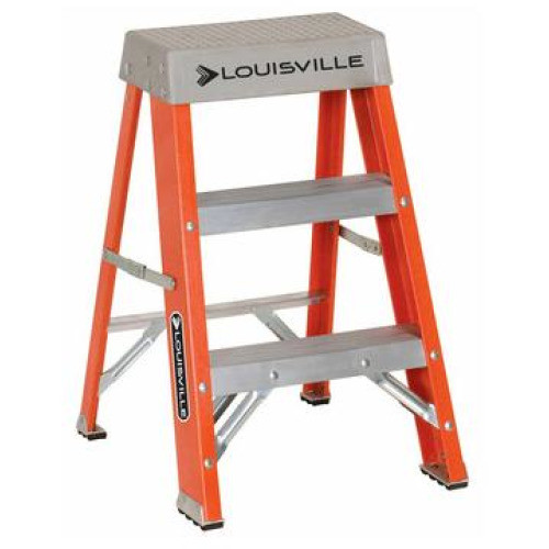 Ladder 2 ft Fiberglass 300lb Duty Rating Louisville FS1502