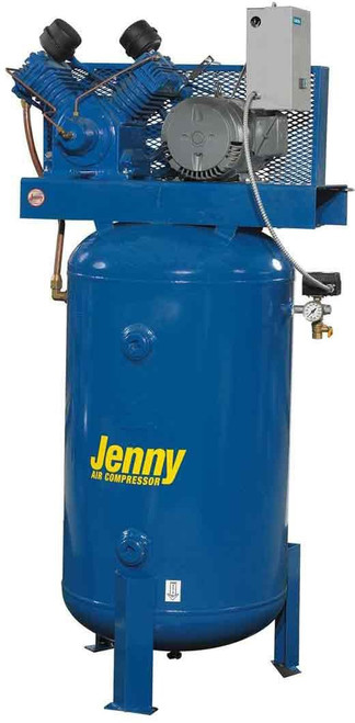 Jenny Air Compressor 80 gal 5hp Tank Mount 230V 2-Stage Pump