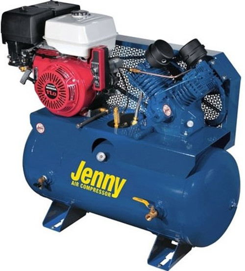 Jenny Air Compressor G11HGA-30T Single Stage Electric Start Gas 30 Gal
