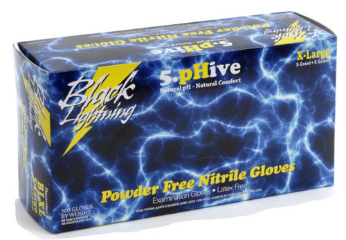 Black Lightning Nitrile Powder-Free XL Glove