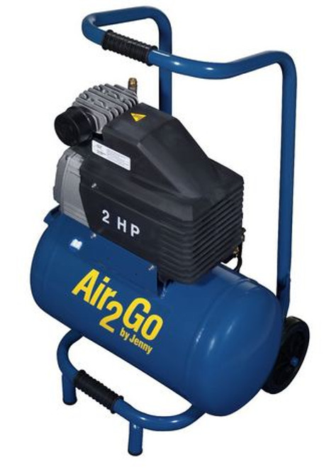 Jenny Air Compressor Portable Wheeled 2HP Electric 4.0cfm @ 100psi 5gal Tank