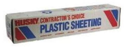 Sheeting 20x100 4 mil Clear Plastic Husky