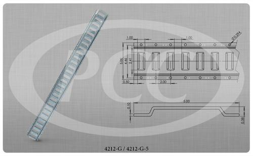 E Track Horizontal 10ft Interior Van Galvanized